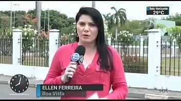 Ellen Ferreira Repórter da Emissora SBT Caiu na Net em Vídeo Amador Exclusivo